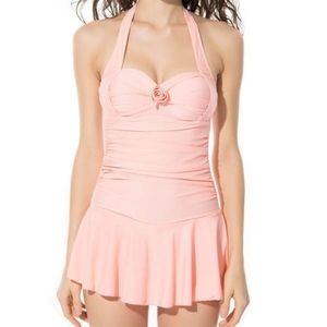 Other - Pink Retro-Style Swimsuit